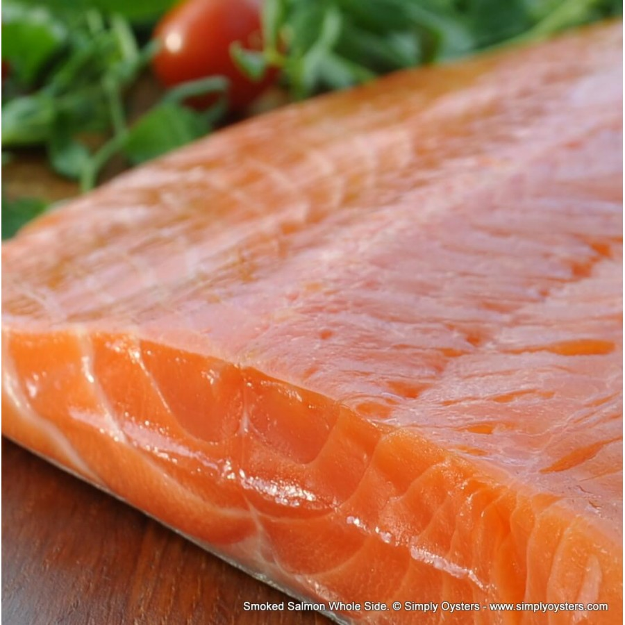 Smoked Salmon Whole-Side (1.0-1.2kg); Half-Side (500g)