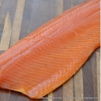 Smoked Salmon Whole-Side (1.3kg), Unsliced & Sliced