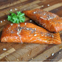 Hot Smoked Salmon Fillet (300g)