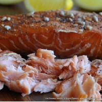 Hot Smoked Salmon: Whole-Side (1kg); Half-Side (500g)